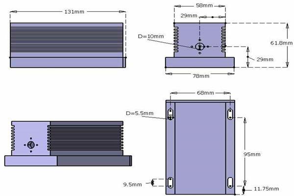 445nm 1500mW-2000mW blue diode laser system