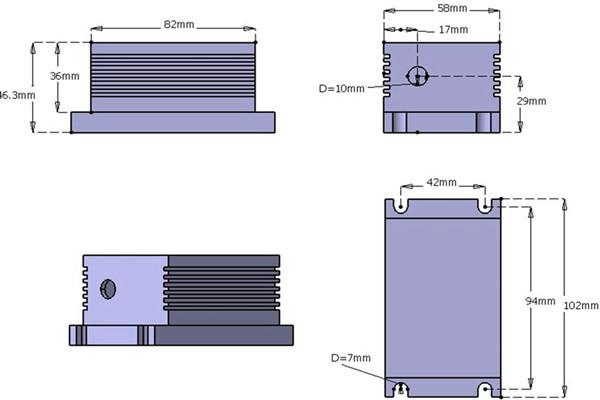 445nm 500mW-1000mW blue diode laser system
